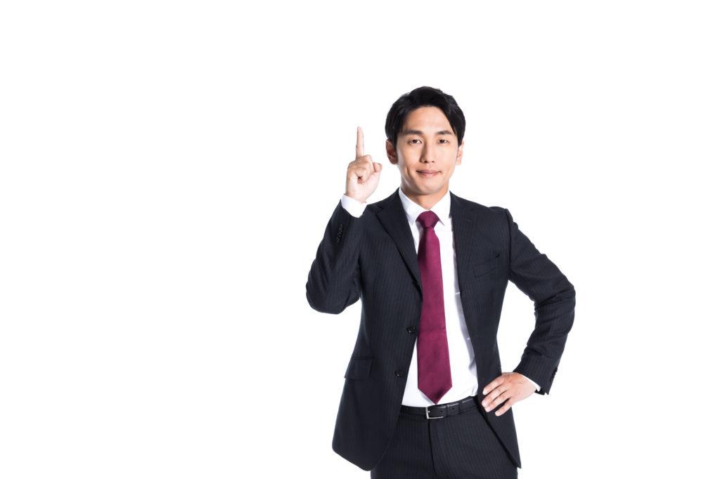ワンポイントアドバイスをする男性の画像